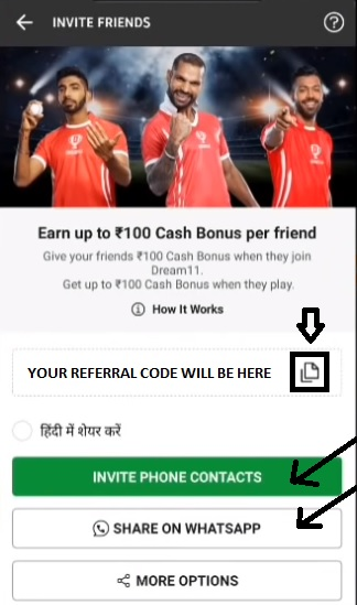 Your Dream 11 Referral Code